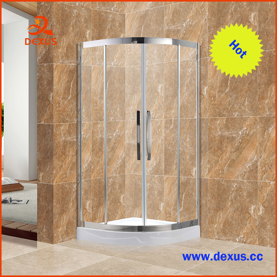 6mm Mirror Glass Customized Sliding Shower Door