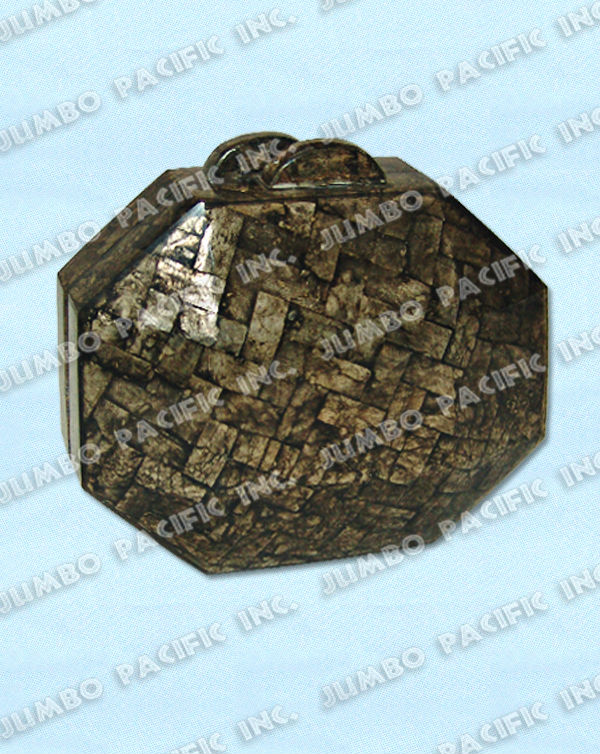 Octagonal Shape Capiz Shells Bag
