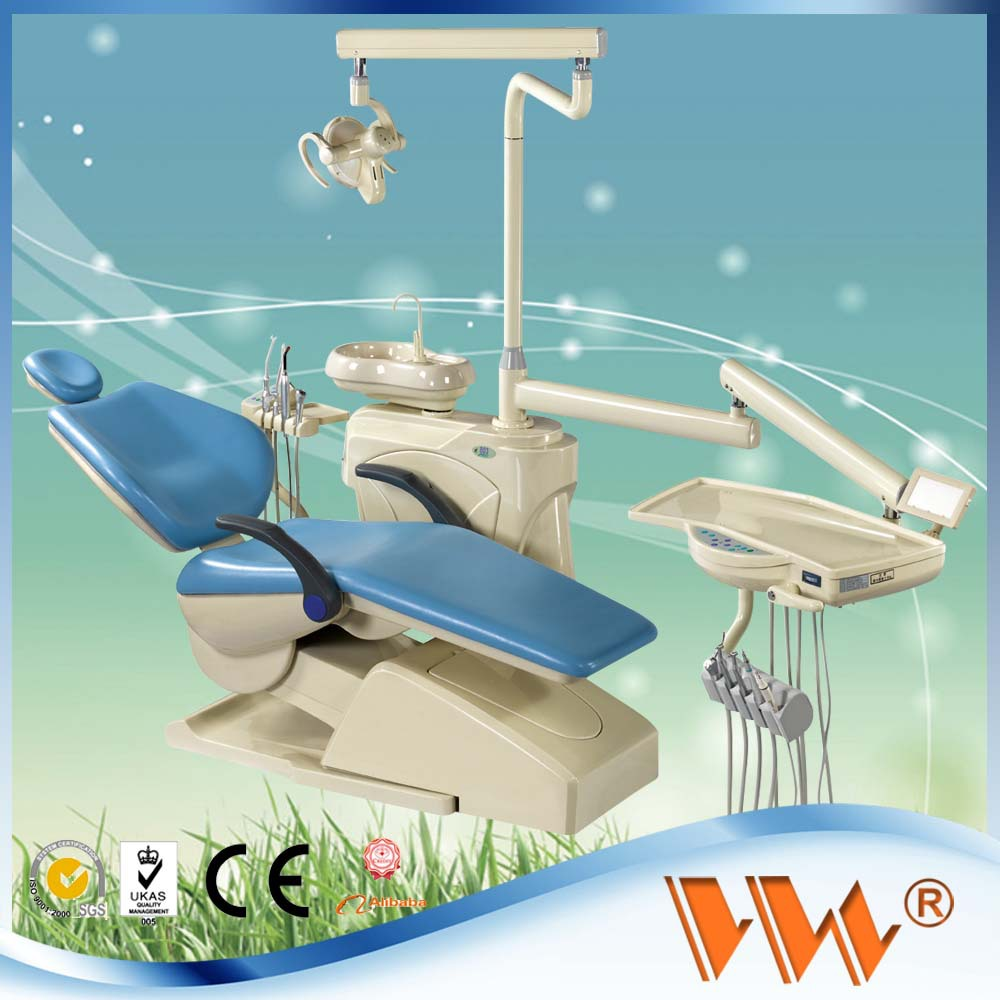dental lab equipment price of dental chair with ce with air compressor