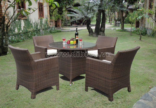 2012 Poly Rattan Dining Table Set/ PE wicker dining set/ Outdoor furniture