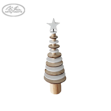 OEM design mini table decoration wooden christmas tree christmas ornaments