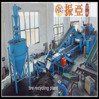 Waste tire recycling machine for rubber crumb price