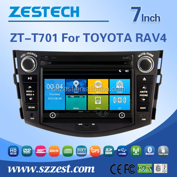 car entertainment system For toyota rav4 WITH Dual zone function, listening to music and viewing the map when driving car