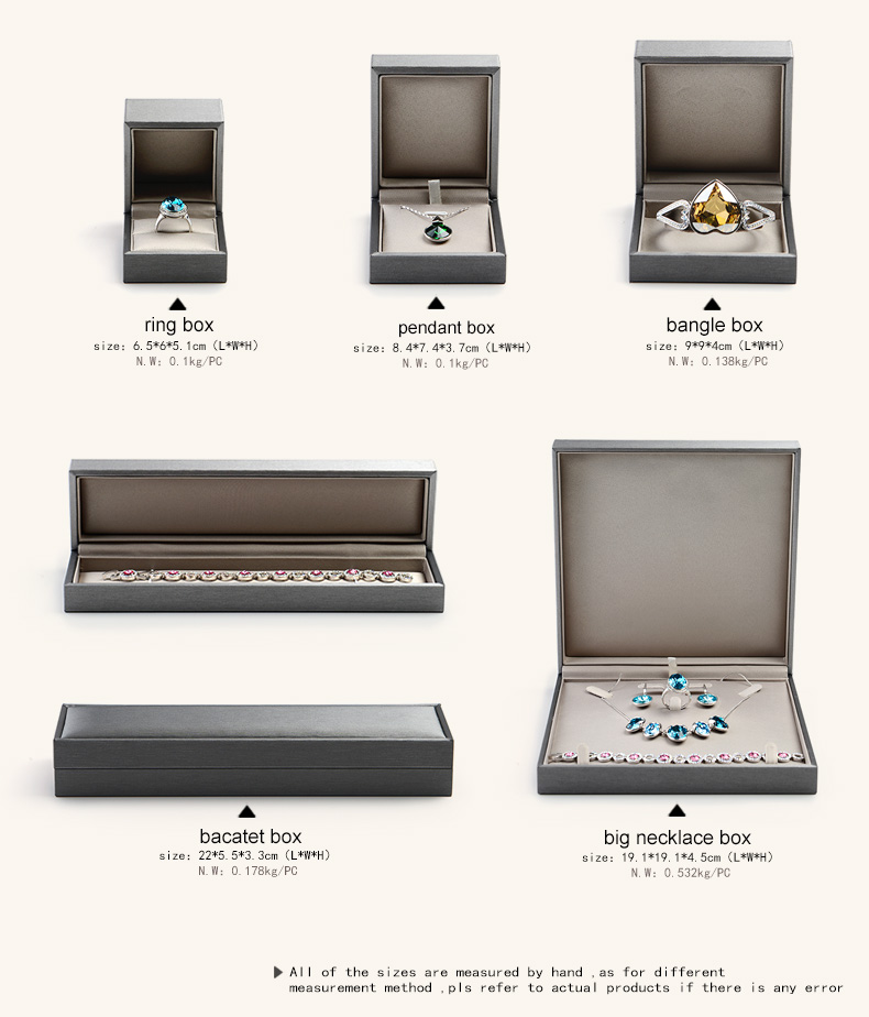 FANXI Christmas Custom Luxury Jewellery Packing Boxes For Wedding Ring Necklace Bracelet Gift Packaging Jewelry Leather Box