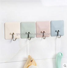 Modern kitchen magic wall hook self adhesive no mark stick plastic reusable hook