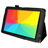 android accessories faux leather back stand protective tablet case for lg g pad 10.1 v700