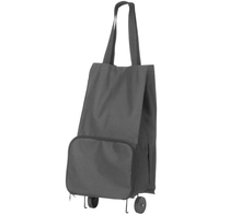 Easy Bag Black Fabric Shopping or Market and Travelling or Trolley Bag