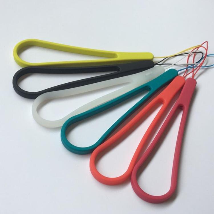 Universal del teléfono móvil cordón muñeca de la mano de la cadena cuerda muñeca taza cuerda correa de silicona elástico de silicona llavero - ANKUX Tech Co., Ltd