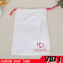 FAST DELIVERY Pure White Double Drawstring Closure Type Indian Cotton Pouch