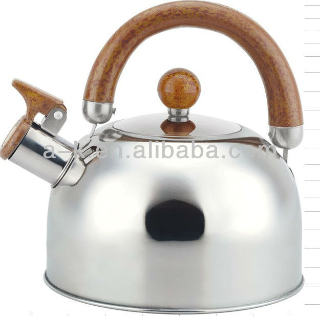 Stainless Steel Whistling Tea Kettle/Tea Pot with Removable Handle