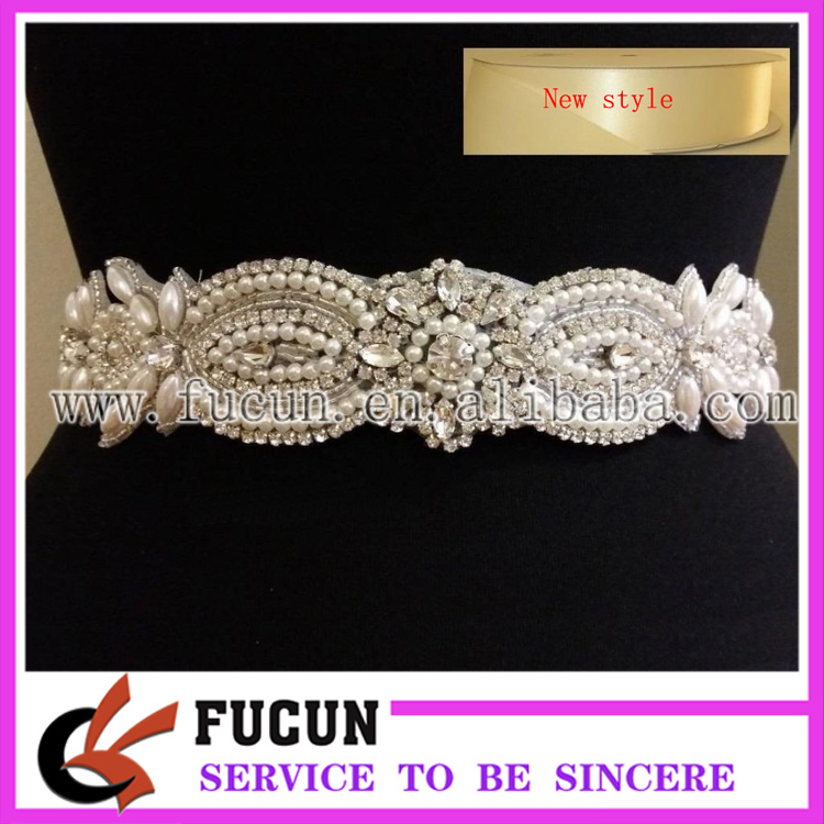 wholesale sew on crystal beads rhinestone bridal applique for garment accessories