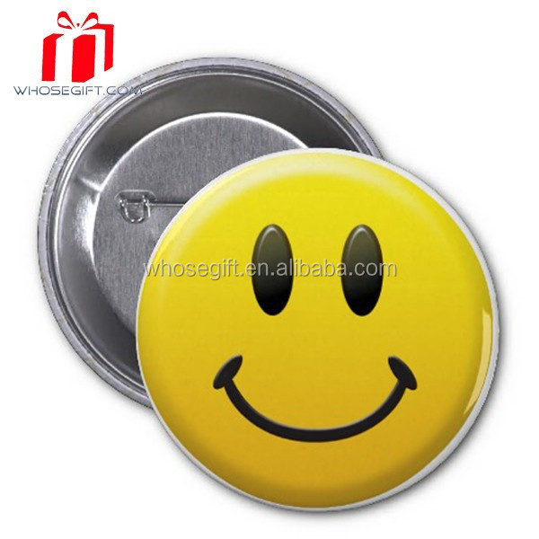 Custom Tin Plate Lapel Pins Cheap Smiley Face Badges Plastic Wholesale