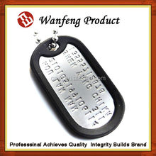 new arrival Cheap lovely anodized aluminum dog tag blank with rubber silencer Army use