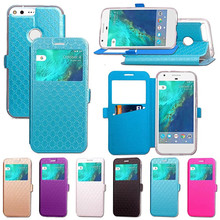 For Google Pixel X/XL Flip Cover Big Window Leather Cases