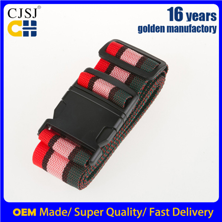 CH-18AWholesale best fabric luggage straps named suitcase belt with tag