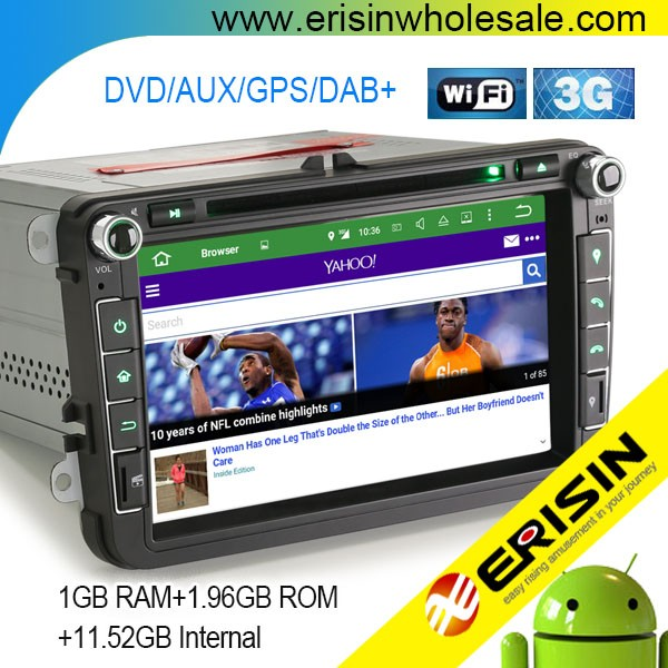 "Erisin ES3015V 8"" Android 5.1 Car Audio System with GPS for Golf Touran"