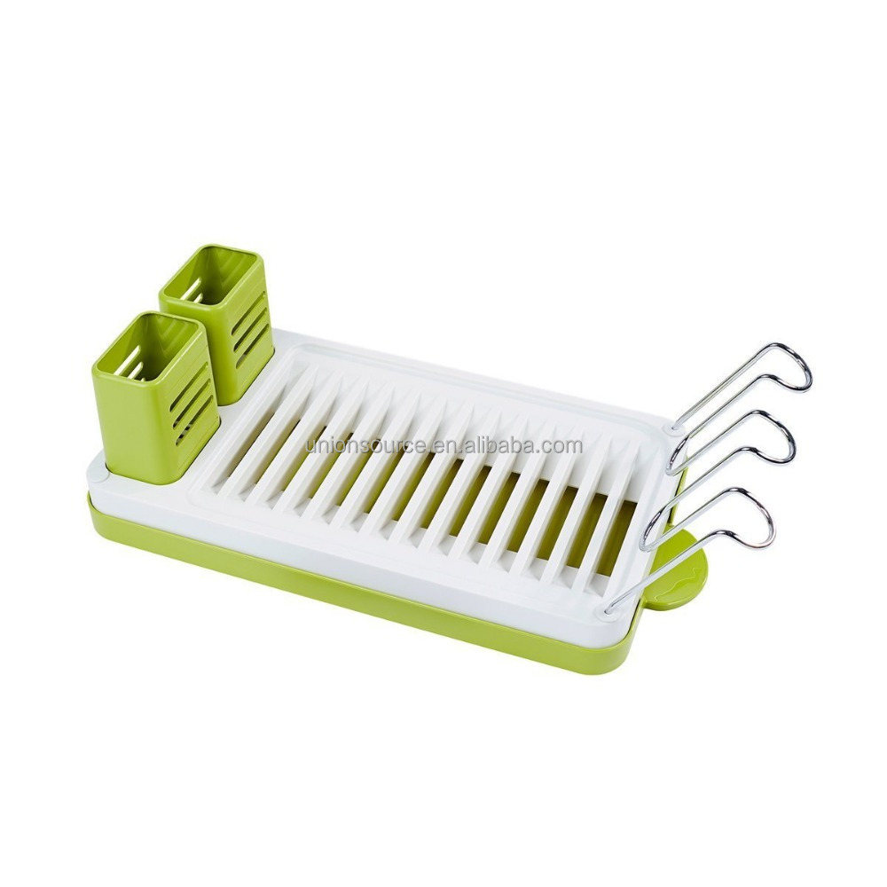 Hot Sale Colorful Plastic Dish Drying Rack Kitchen Dish Drainer Storage Dish <strong>Shelf</strong> With Drain Rack