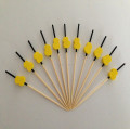 disposable bamboo skewer print custom logo