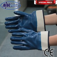 NMSAFETY Heavy duty nitrile long cuff disposable nitrile gloves
