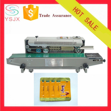 Continuous plastic film bag heat steel coding sealing machine