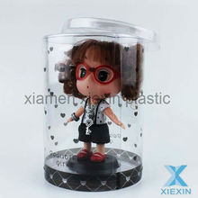 doll toy clear packaging clear round acetate boxes
