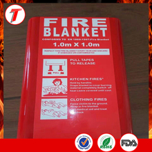 best sales 10mm thick soft pouch fire blanket for kitchen