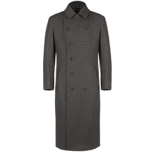 New Fashion Classic Suit Overcoat Long Double Breasted Trench New Pant Coat Design Winter Coat Men