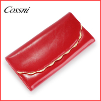 2016 new design genuine leather women wallet high quality ladies handbags purses cossni 417-100A