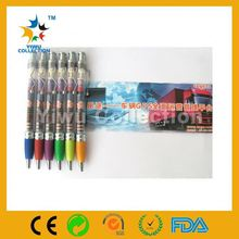 fancy pens,cheap pen and pencil set,led flashing fashionable flag pen