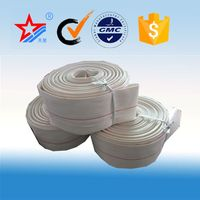 38mm canvas fire hose,canvas water hose, single jacket pvc water fire hose