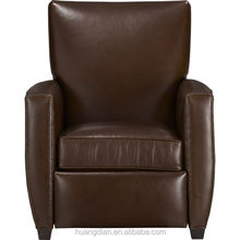 low price China furniture modern brown leather living room sofa chair set