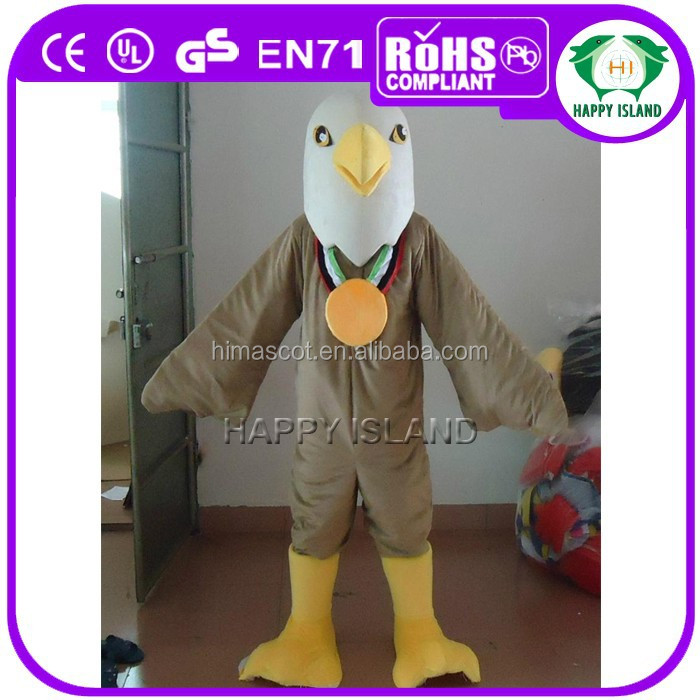 HI CE Eagles hawk bird Mascot Costume-Eagles mascot for adult