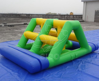 KWP mini kids mobile climbing wall inflatable commercial water park toys for rental