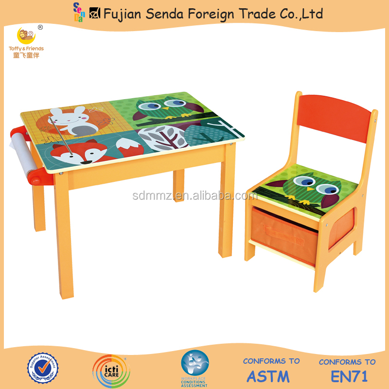 Wooden Kid Study Desk and Chair Set