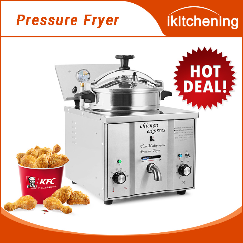 Iktchening Counter top Pressure Fryer with 16L frying basket