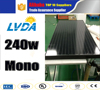 Mono solar panel all black 240w mono solar panel system in Yemen solar panel price