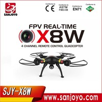 Syma X8W Wifi Control Mode 4-CH 2.4GHz Romote Control RC Venture Big Quadcopter Drone Airplane with 6-Axis Gyro 2MP 720P