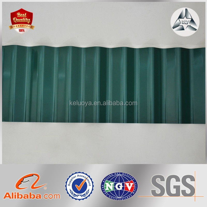 Wall Decoration Use Zinc Aluminized Iron coated Corrugated Roofing Steel Sheet Supplier