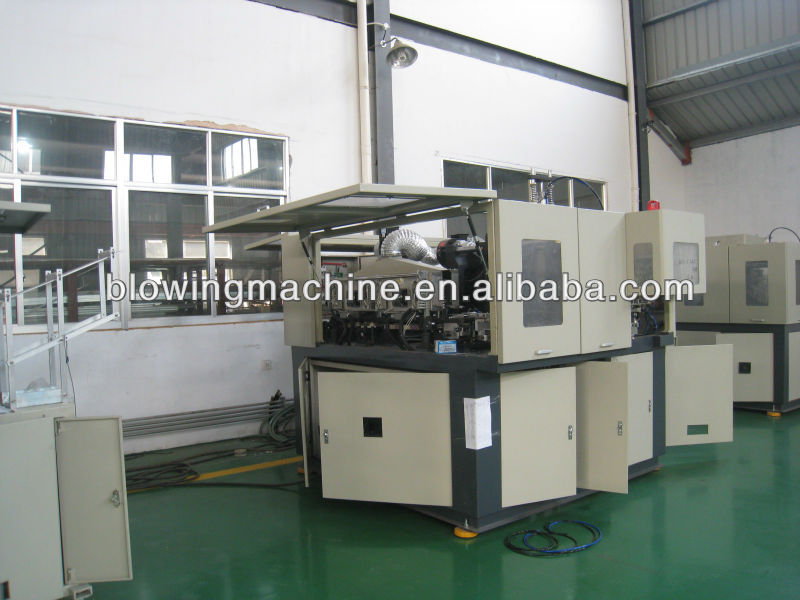 2 cavity 5 liter automatic blow molding machine with deflashing JS-2000B