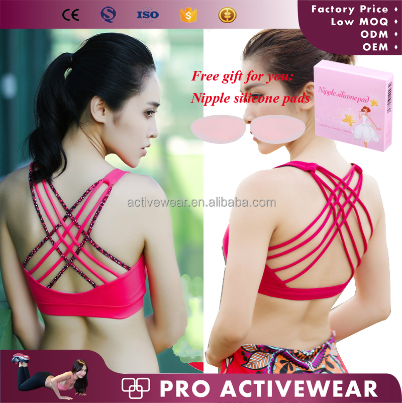 2017 New Fashion Custom Blank Sport Bra, Girl Sports Hot Sexy activewear Women