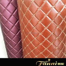 synthetic artifical pvc rexine leather fabric for making car trunk floor mat
