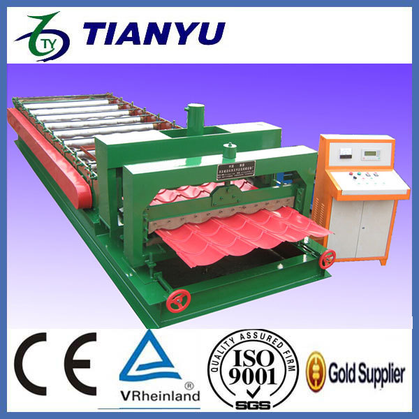 mini rolling mill glazed aluminum roofing sheet metal roll forming machines