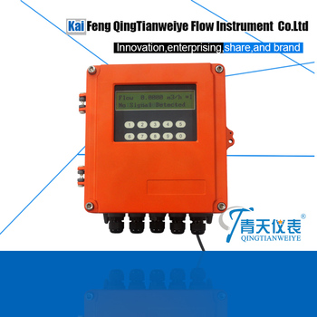intelligent wall mounted clamp on temperature and flow sensor ultrasonic thermal flowmeter