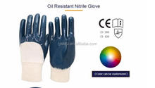 Hot sale Custom Oil Resistance Outdoor Nitrile Gloves protective working glove for sale in china