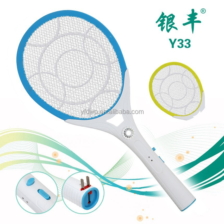 Y33 effective electronic mosquito killer, ABS material rechargeable mosquito swatter, rechargeable mosquito-hitting swatter