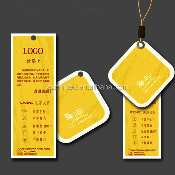 embossing coated paper Light membrane clothing tag