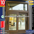 Aluminium Sliding Window with grills design,82 series