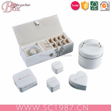 Pure white unique jewelry gift boxes multifunction boxes
