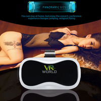 Good price 3d vr box virtual reality glasse xnxx movies for sex video with vr remote controller