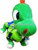 Stuffed Big Head Green Dinosaur Plush Toy